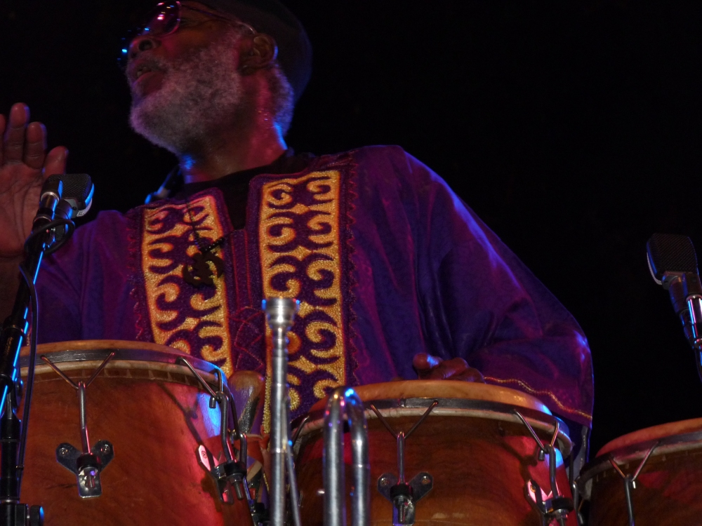 Lou Wilson  Congas,Trumpet & Vocals..@ The Mandrill Concert