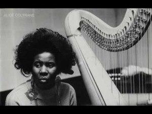 b& w alice coltrane harp
