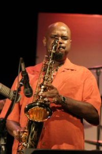Dale fielder  sax orange shirt