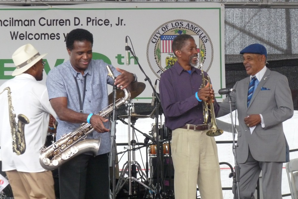 Ernie  Noland  Rickey  and Jame Jenisse  Central ave Jazz fest 2014