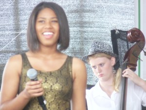 Girl Bassist & vocalist Central ave Jazz fest 2014