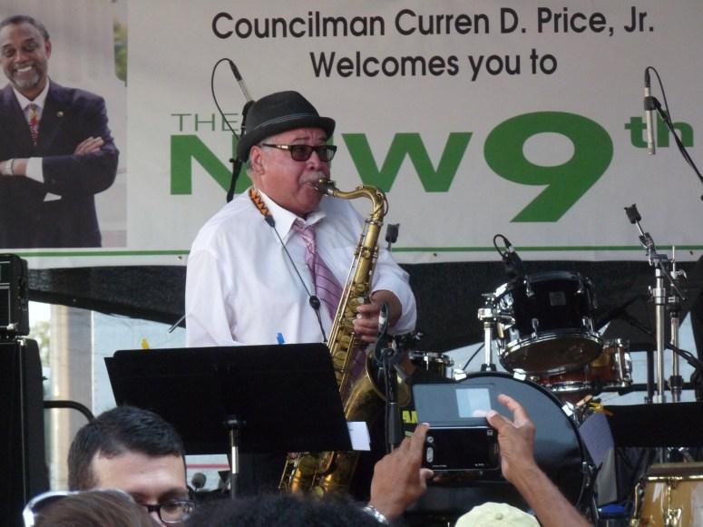Justo Amario  sax Central ave Jazz fest 2014