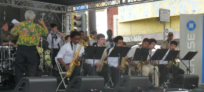 youth sax section Jazz America  Youth   Central ave Jazz fest 2014 A