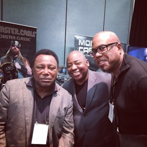 L-R George Benson,Paul Jackson,Jr., Jacques Lesure
