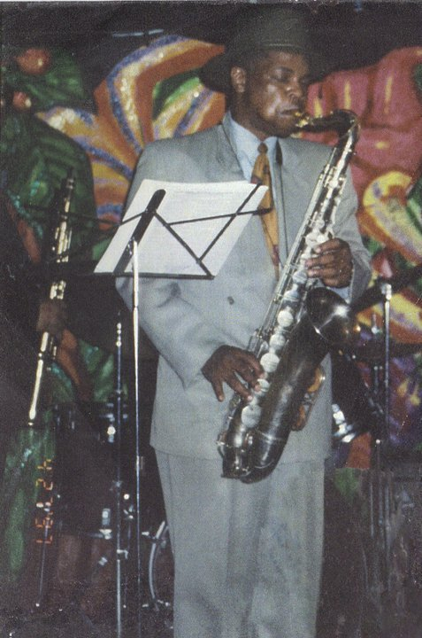 Robert and silver tenor sax 1997