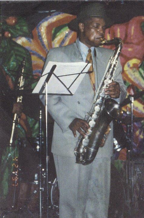 Robert and silver tenor sax 1997