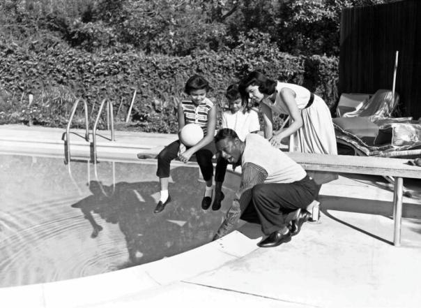 Nat Cole in Hancock Park 1950s