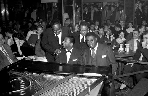 Errol Garner  with masters  Art Tatum with Boogie Woogie masters Meade Lux Lewis and  Daddy Ammons