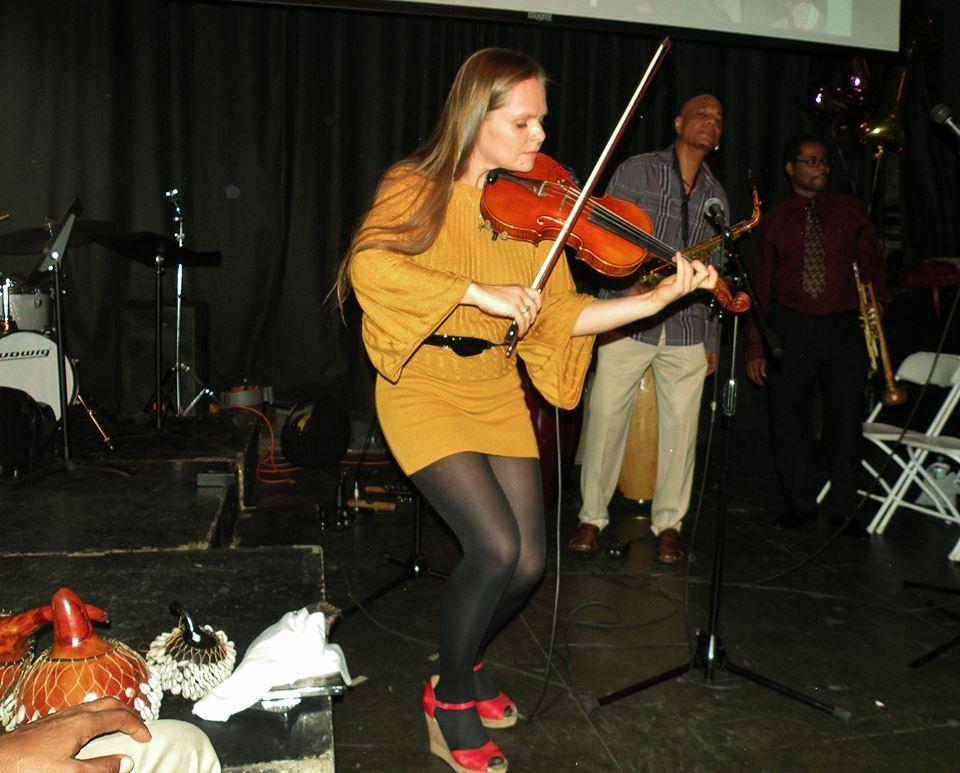 Jazz Violinist Fredka Krier  Rome Neal