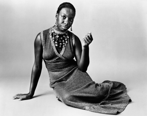 UNSPECIFIED - 1968: This studio portrait shows American pianist and jazz singer Nina Simone reclining on the floor circa 1968. Simone, whose deep, raspy voice made her a unique jazz figure and later helped chronicle the civil rights movement, died in her sleep on April 21, 2003 of natural causes after a long illness. She was 70.   (Photo by Getty Images)
