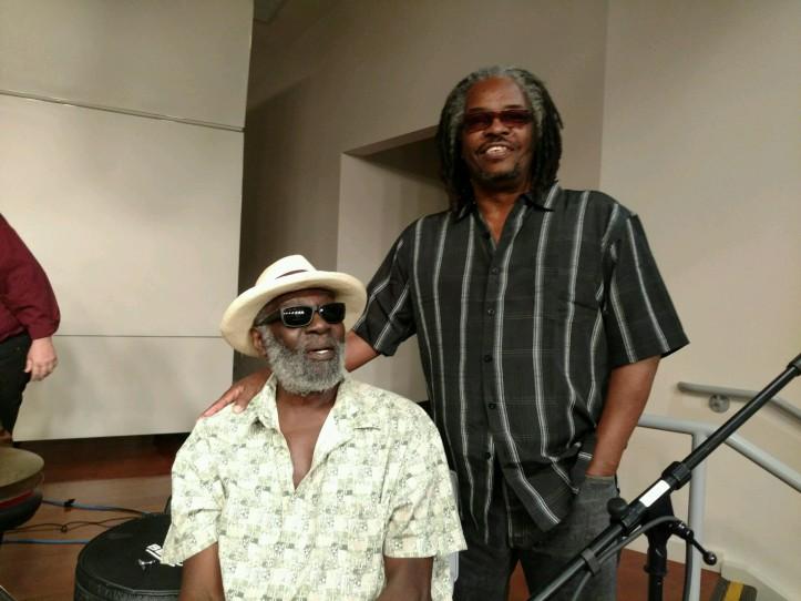 shown: music journalist/producer Robert J. Carmack with drummer Big Black