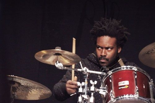 Guillermo Brown drummer for world stage super Trio with Robert Carmack The Art of Sun Ra Poetry